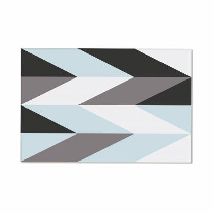 Blue & Grey arrow Vinyl Teppich