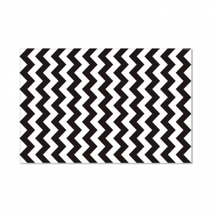 Tappeto in vinile nero Chevron