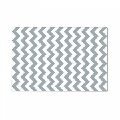 Gray Chevron Vinyl Carpet