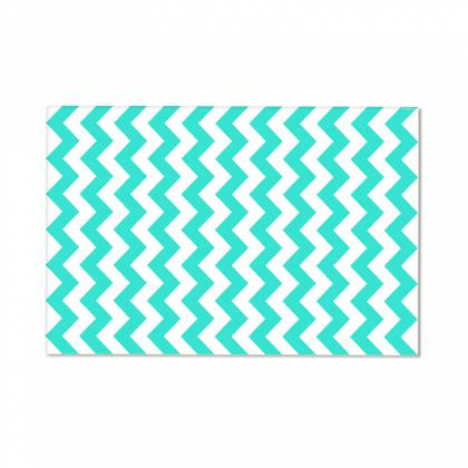 Mint Chevron Vinyl Carpet