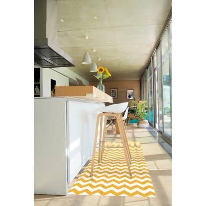 Mustard Chevron Vinyl Carpet