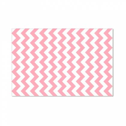 Pink Chevron Vinyl Carpet