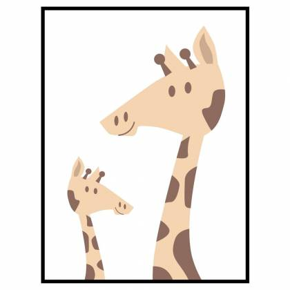 Stampa Two Giraffes