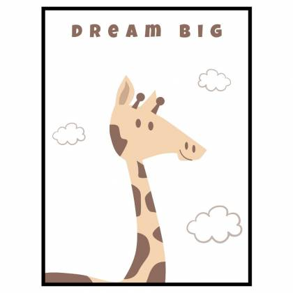 Giraffe Dream Big print