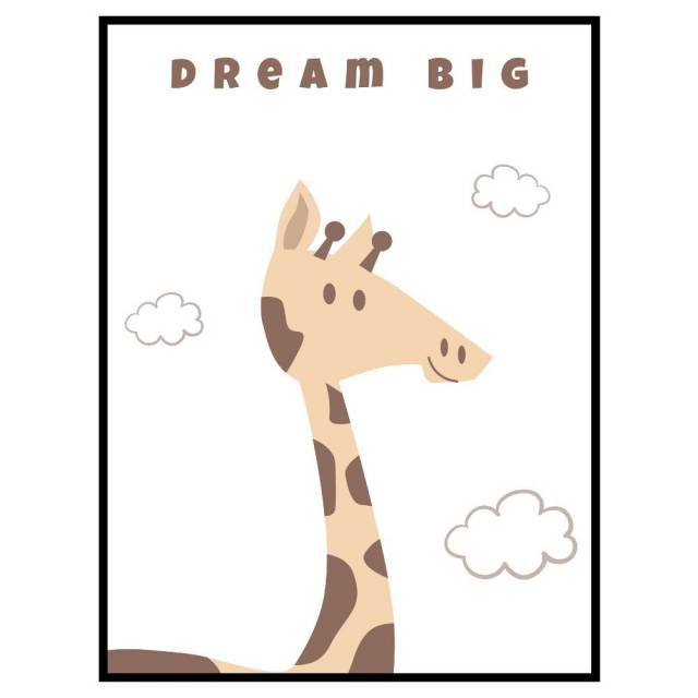 Stampa Giraffe Dream Big