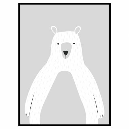 Bear Light Grey drucken