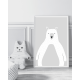 Bear Light Grey print