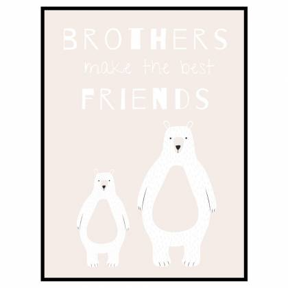 Bear Brothers Light print
