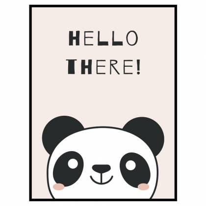 Panda Hello There drucken