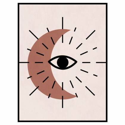 Cinnamon Eye Moon print