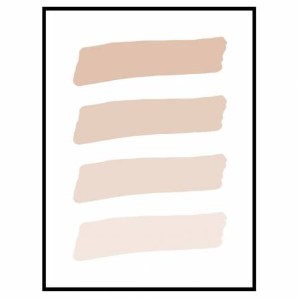 Imprimé Brush Shades Light Beige