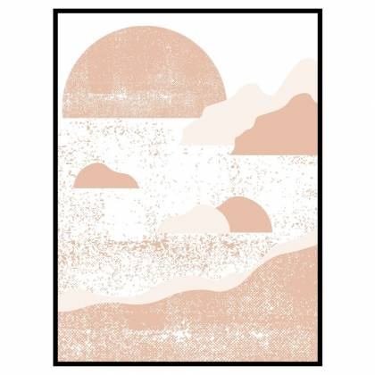Coast Pinkish Beige print