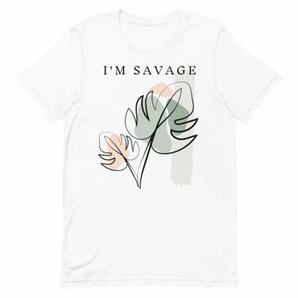 Camiseta unisex Savage Leaf