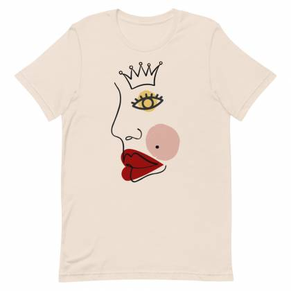 Camiseta unisex Face With Crown