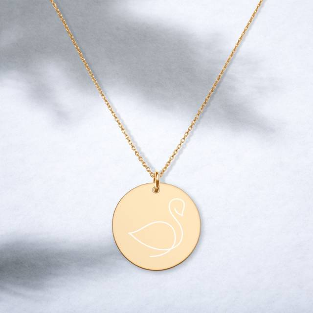 Swan engraved necklace