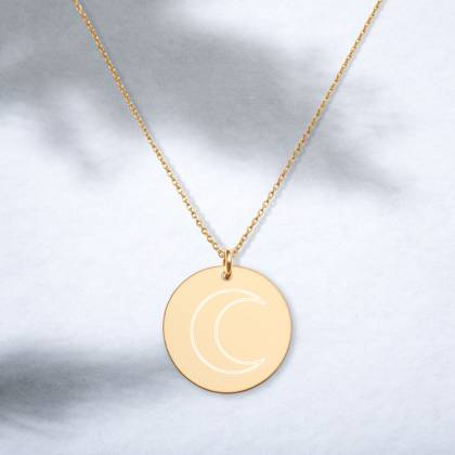 Moon engraved necklace