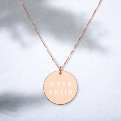 Moon Child engraved necklace