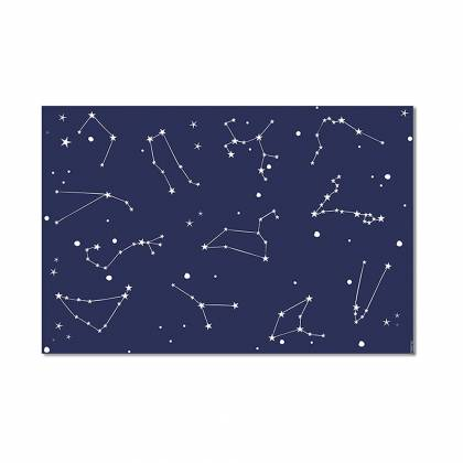 Blue constellation Vinyl Carpet