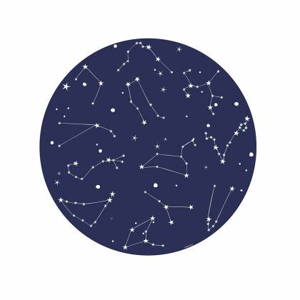 Tappeto in vinile constellation blu