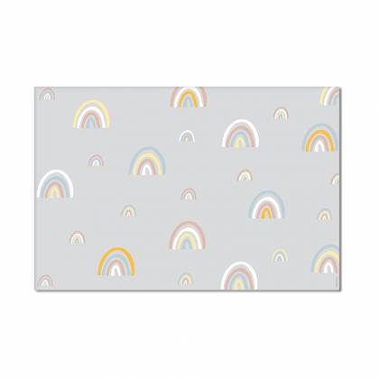 mini rainbows Grau-Vinylteppich