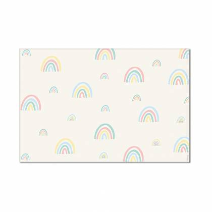 mini rainbows pastel-Vinylteppich