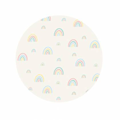mini rainbow pastel round Vinyl Carpet