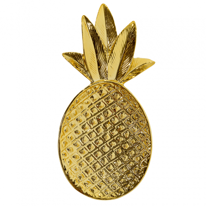 Golden pineapple tray