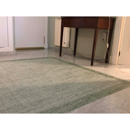light green vinyl rug