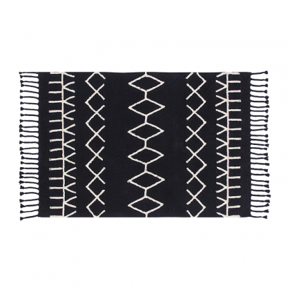 Bereber washable rug - Black