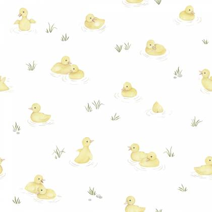Papel pintado yellow ducks