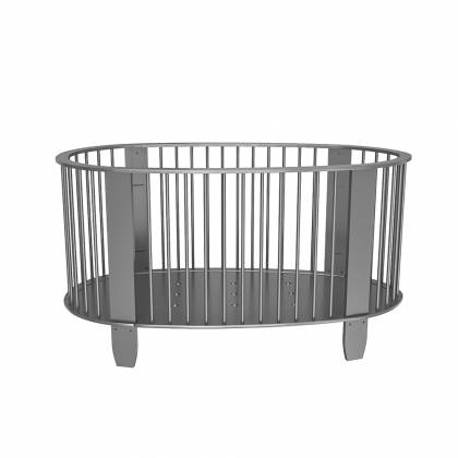 Cocoon crib charcoal gray