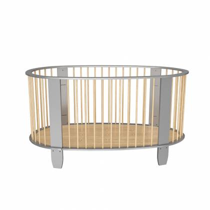 Cocoon crib gray + wood