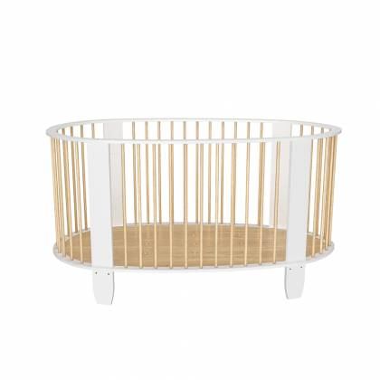 Cocoon cot white + wood