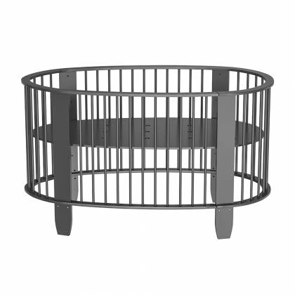 Oeuf evolutive crib charcoal gray