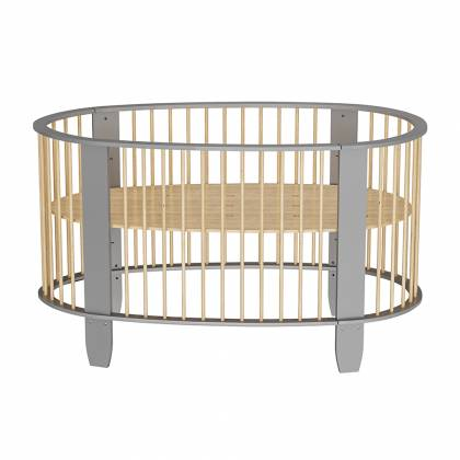 Oeuf evolutionary cot gray + wood