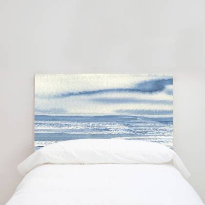 Blue aeolus headboard