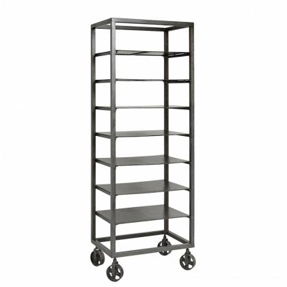shelving with wheels