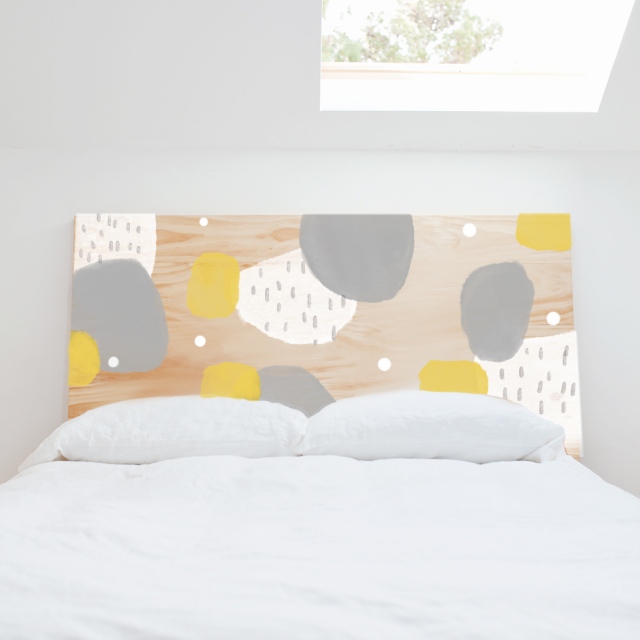 Pattern Wood Headboard