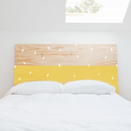 Confetti wood Headboard