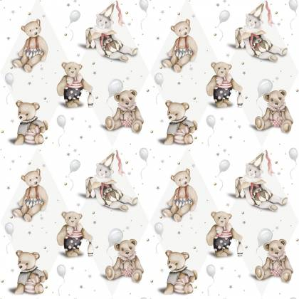 Teddy Bear French small wallpaper