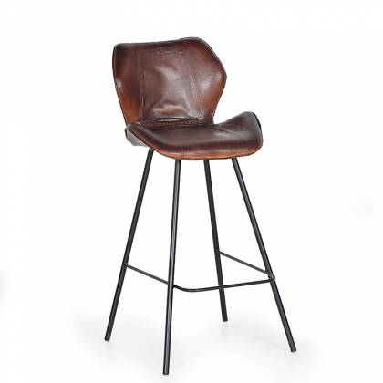 Giner & Colomer Leather Stool