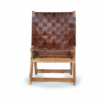 Giner & Colomer Leather and Wood Chair