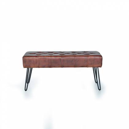 Giner & Colomer Leather Bench