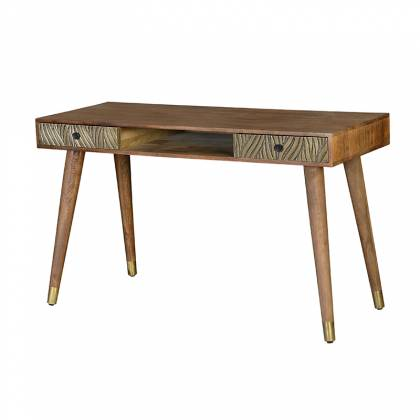 Mango wood and bronze desk