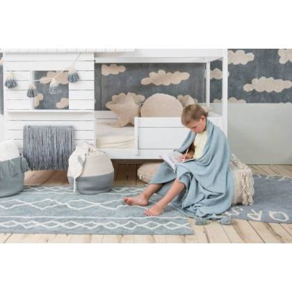 Alfombra Lavable Oasis Natural - Vintage Blue