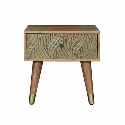 Mango wood side table