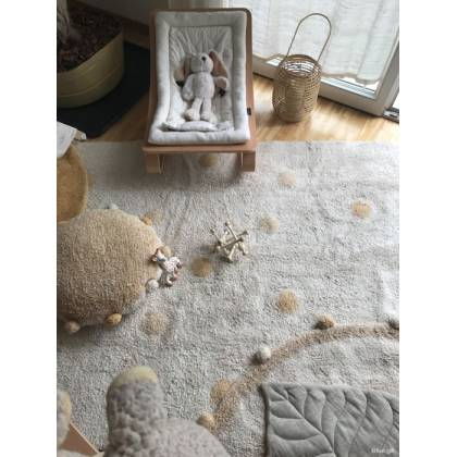 Alfombra Lavable Hippy Dots Natural - Honey