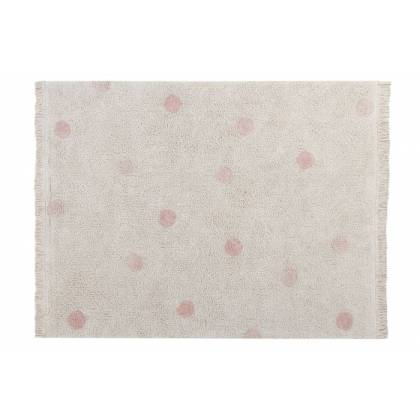 Tapis lavable Hippy Dots Natural - Vintage Nude