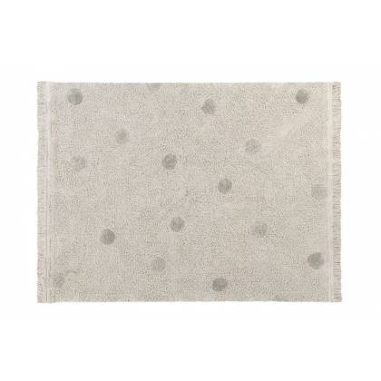 Tapis lavable Hippy Dots Natural - Olive