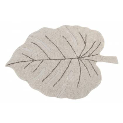 Tapis lavable Monstera Natural